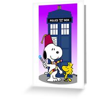 Snoopy doctor who  Greeting Card