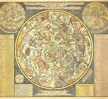 Northern Sky Star Chart Constellations 1748 by dreamgifts
