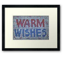 Warm wishes Framed Print