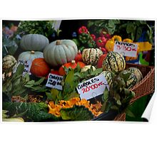Seasonal produce at Borough Market Poster