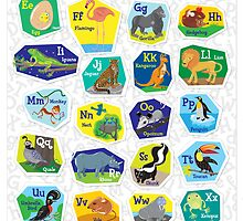 Alphabet Poster for Children (with background) by Lyuda