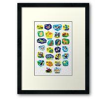 Alphabet Poster for Children (with background) Framed Print