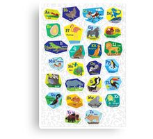 Alphabet Poster for Children (with background) Canvas Print