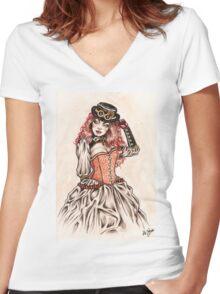 Lady Noir Women's Fitted V-Neck T-Shirt