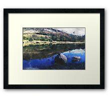 Dovestone Reservoir Spring Reflections Framed Print
