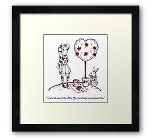 Alice & The White Rabbit Are Not Impressed Framed Print
