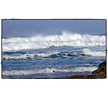 """"""" Storms again  batter Cornwall"""" Photographic Print"""