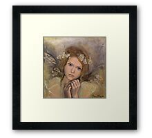 """The touch of an angel (""""Angels"""" series) Framed Print"""
