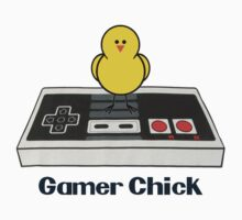Gamer Chick ( T-Shirt Black Text ) by PopCultFanatics