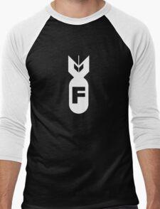 F Bomb Adult Humor Funny Men's Baseball ¾ T-Shirt