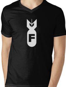 F Bomb Adult Humor Funny Mens V-Neck T-Shirt