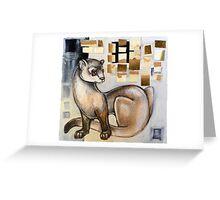 Animalia IV: Black Footed Ferret Greeting Card