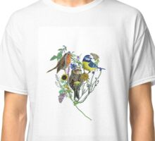 painted bird collage Classic T-Shirt