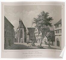 Johannes Läpple Heilbronn Nicolai Kirche Und Pensionat Eberhard Emminger Ca 1855 Poster