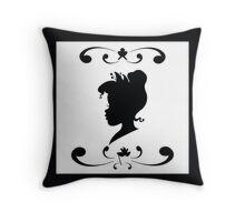 Princess Tiana Silhouette Throw Pillow