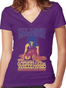 FAMILY STONE Women's Fitted V-Neck T-Shirt