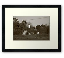 Old Small Town Church Framed Print