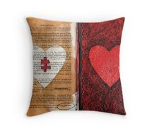 Altered Book 11 Throw Pillow