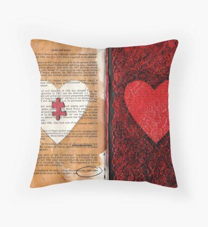 Altered Book 11 Throw Pillow