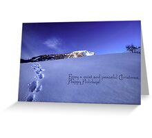 Quiet and Peaceful Christmas Greeting Card