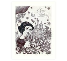 Monochrome Princess SW Art Print