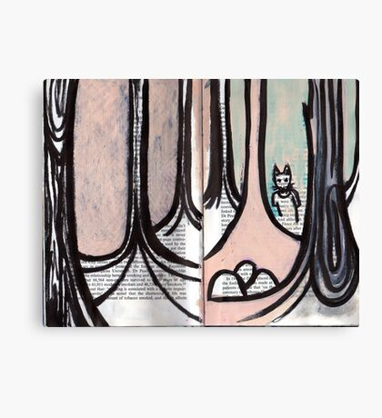 Altered Book 3 Canvas Print
