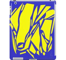 Abstract yellow blue iPad Case/Skin