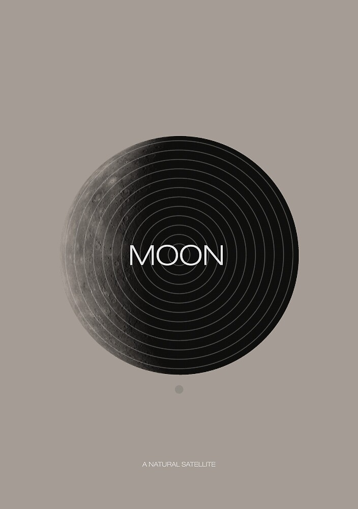 Moon, a Natural Satellite by DesignbySolo