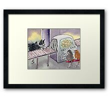 Airport security stole his luggage... Framed Print