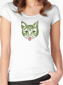 Big Green Mollycat Women's Fitted Scoop T-Shirt