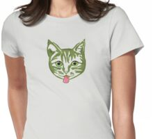 Big Green Mollycat Womens Fitted T-Shirt