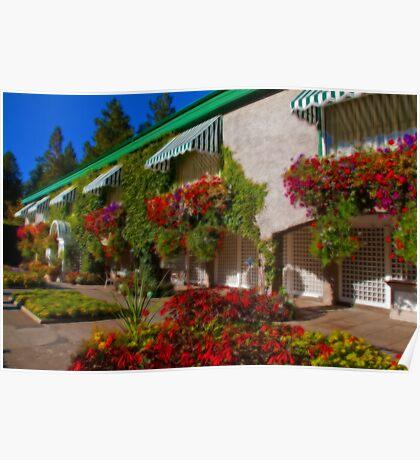 Canada. Vancouver Island. Butchart Gardens. Italian Garden. Poster