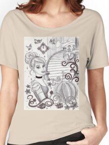 Monochrome Princess C Women's Relaxed Fit T-Shirt
