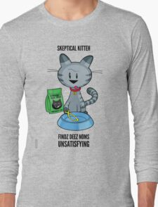 Skeptical Kitteh Doesn't Like Your Fish Long Sleeve T-Shirt