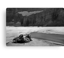 Grinnell Glacier (BW) Canvas Print