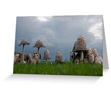 Ink cap mushrooms Greeting Card