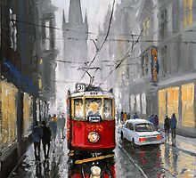 Prague Old Tram 07 by Yuriy Shevchuk