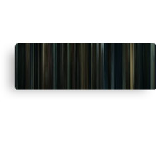 Moviebarcode: Harry Potter and the Deathly Hallows: Part 1 (2010) Canvas Print