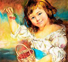 Cherry Basket girl. by Sher Nasser