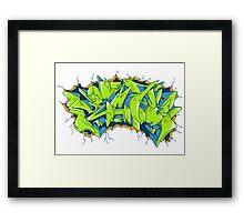 Vecta Wall Smash Framed Print