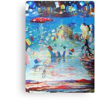 le cycliste fantastiques Canvas Print