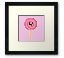 Kawaii Lollipop Framed Print