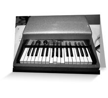 Fender Rhodes Electric Piano Greeting Card