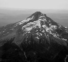 Aeriel View of Mt Hood by Jennifer Hulbert-Hortman