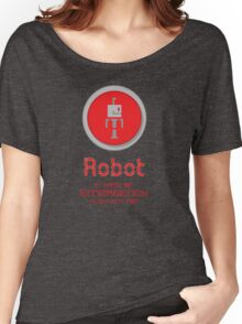 Robot Button Women's Relaxed Fit T-Shirt