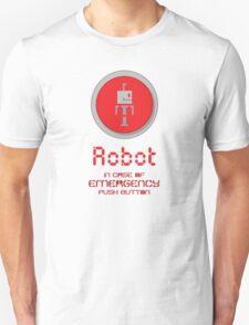 Robot Button Unisex T-Shirt