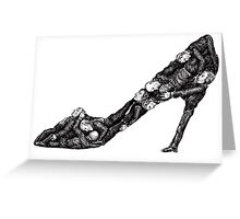 Shoe out of men surreal black and white pen ink drawing Greeting Card