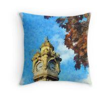 Exeter Clock Tower Throw Pillow