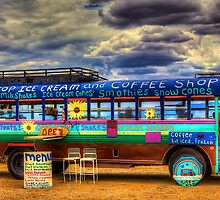 Solar Ice Creme Bus -- Taos, New Mexico by njordphoto