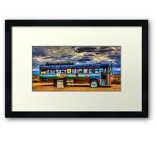 Solar Ice Creme Bus -- Taos, New Mexico Framed Print